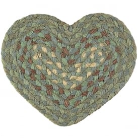 Seaspray Heart Jute Braided Coaster