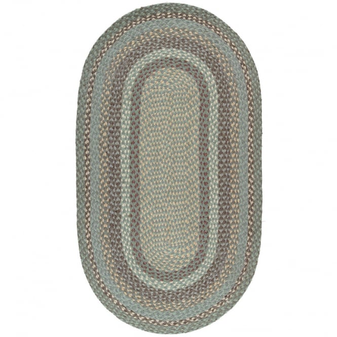 The Braided Rug Company Seaspray Oval Jute Braided Rug