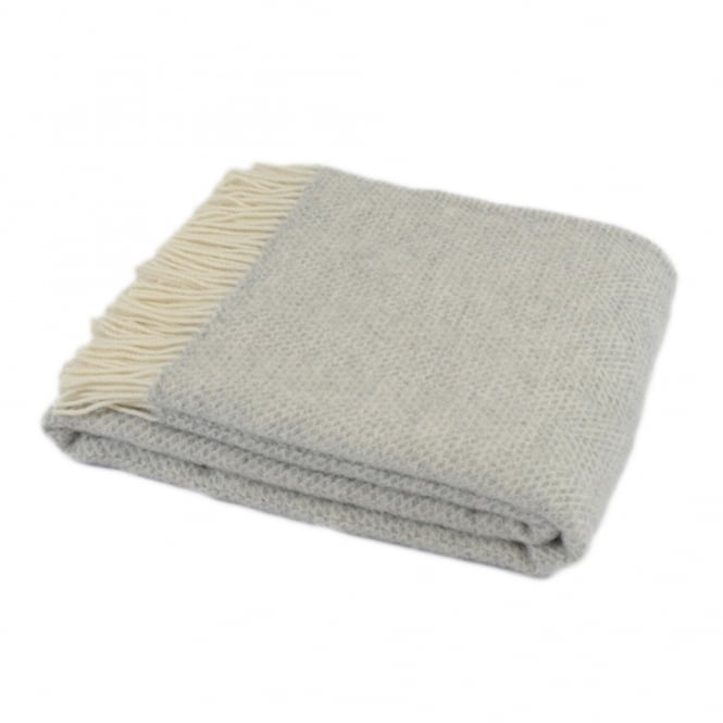 Tweedmill Textiles Beehive Throw Grey