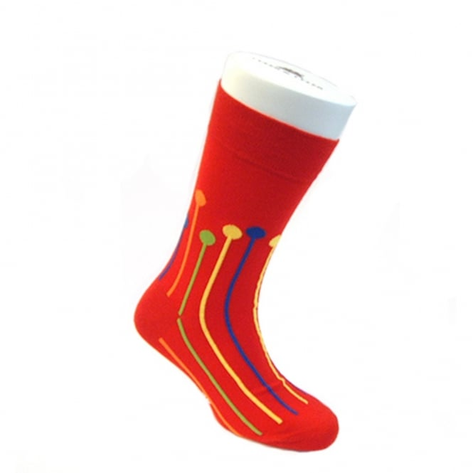 Tyler & Tyler Dropspot Ankle Socks - Red
