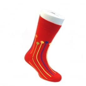 Dropspot Ankle Socks - Red