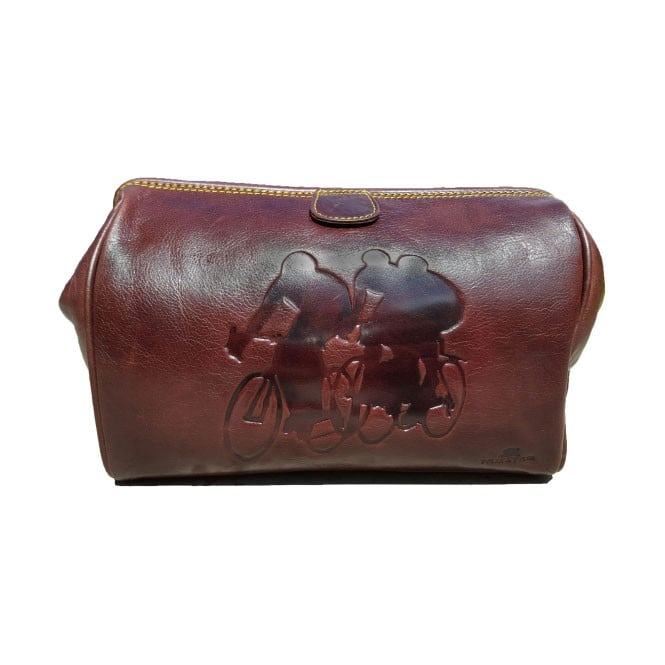 Tyler & Tyler Racers Leather Washbag
