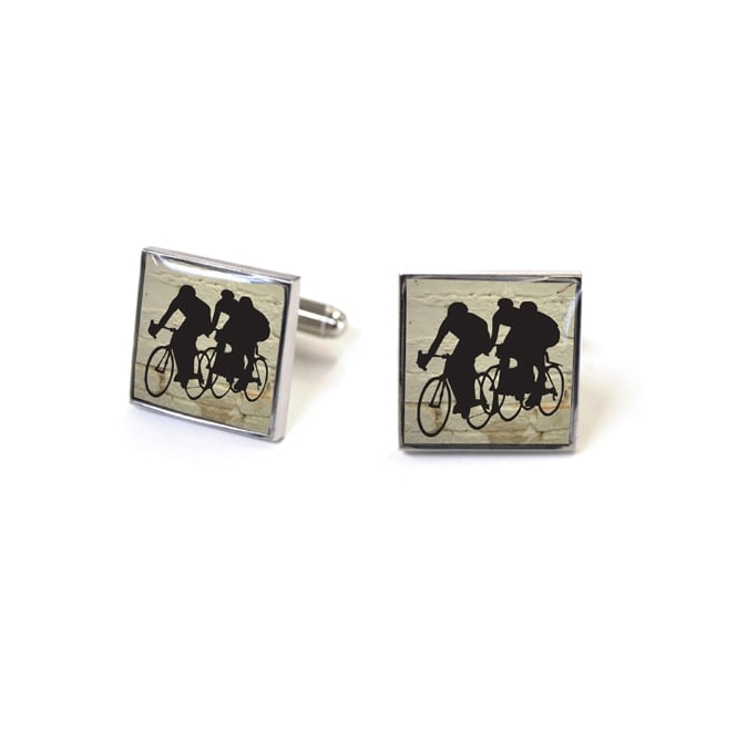 Tyler & Tyler Racers White Brick Cufflinks