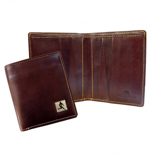 Tyler & Tyler Rugby Brown Leather Wallet