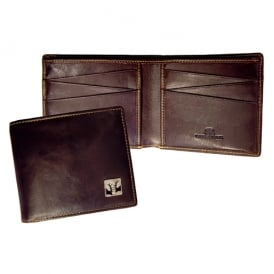 Rut Brown Leather Billfold Wallet