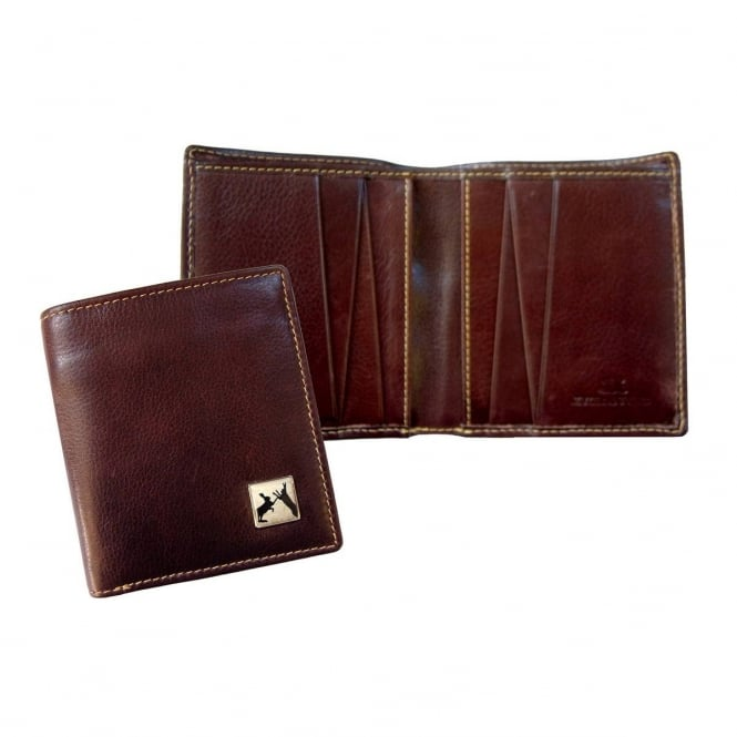 Tyler & Tyler Sparring Hares Brown Leather Wallet