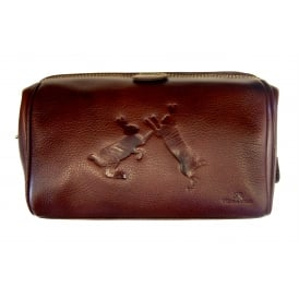 Sparring Hares Leather Washbag