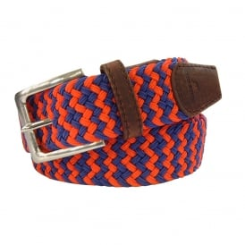Zig Zag Woven Belt - Red & Blue