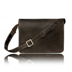 Harvard Leather Messenger Bag