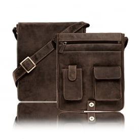 Jasper Leather Messenger Bag