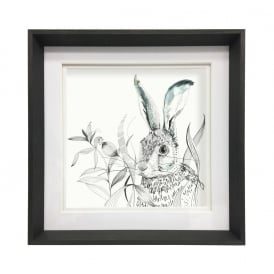 Hare Small Box Framed Picture