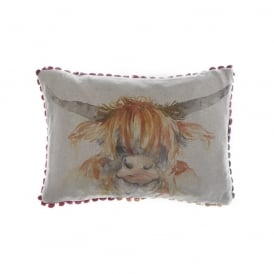 Highland Coo Arthouse Small Cushion