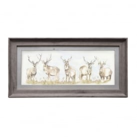 Moorland Stag Framed Picture