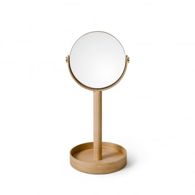 Wireworks Close Up Mirror Natural Oak